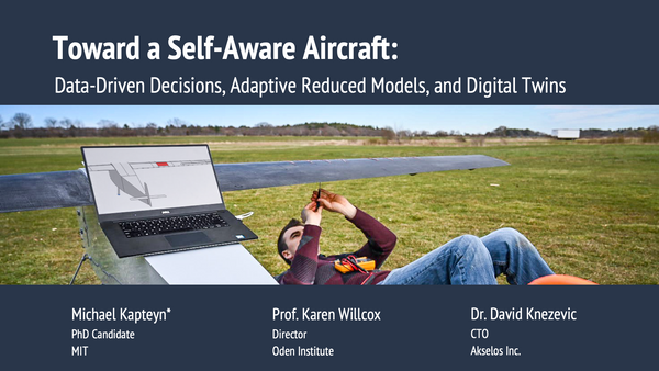 Toward a Self-Aware Aircraft: Data-Driven Decisions, Adaptive Reduced Models, and Digital Twins (USNCCM 2019 Presentation)